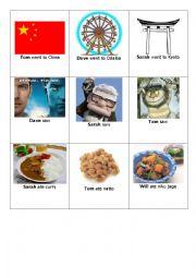 English Worksheet: Irregular past detective cards game