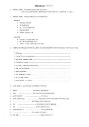English Worksheet: TEST FOR ADULTS PRE INTERMEDIATE