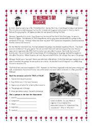 English Worksheet: St Valentine´s Day Massacre Reading Exercise
