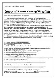 English Worksheet: conducting a survey