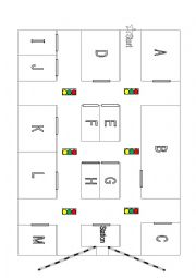 English Worksheet: DIRECTIONS - Conversations and maps - lower intermediate level (street) map 2