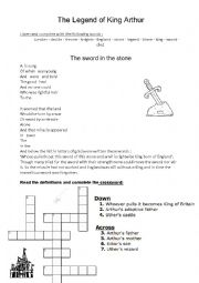English Worksheet: the sword in the stone