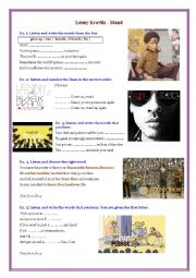 English Worksheet: Lenny Kravitz - Stand