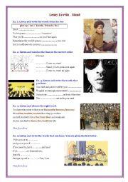 English Worksheet: Lenny Kravitz - Stand
