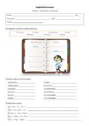 English Worksheet: Test for 3rd grade
