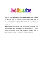 English Worksheet: Hit Discussions: Breaking stereotypes and myths.