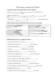 English Worksheet: 3rd hour activity: Uncle Hedy�s farm