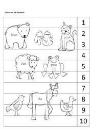 English Worksheet: Brown bear, brown bear puzzle