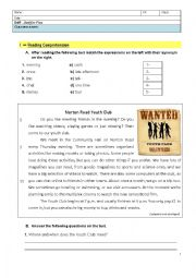 English Worksheet: Just for Fun - 8th Grade English Test