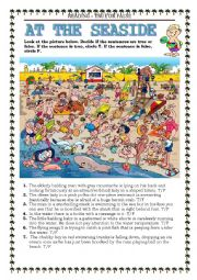 English Worksheet: READING - AT THE SEASIDE