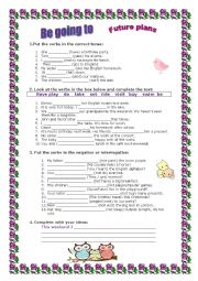 English Worksheet: Be going to- exercises