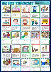 Yesterday Seems To Have Been My Day For >> My Day Yesterday Past Simple And Daily Routines For Beginners Esl