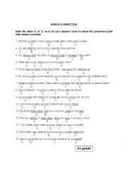 english worksheets error correction 3 multiple choice questions. Black Bedroom Furniture Sets. Home Design Ideas
