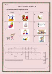 English Worksheet: The party is on   Group Session