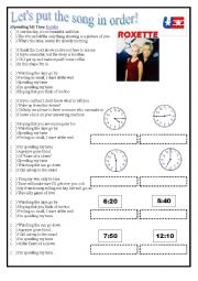 English Worksheet: Spending my time - Roxette