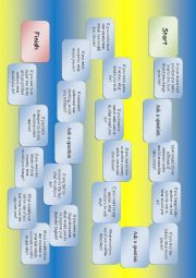 English Worksheet: Game for practicing conditionals