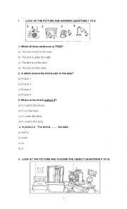 English worksheet: Term test