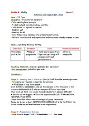 tolerance and respect  for others lesson plan