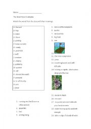English Worksheet: The Great Race, or the story of the chinese zodiac