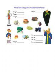Muzzy cartoon task -