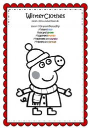 Peppa Pig Winter Clothes