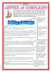 English Worksheet: WRITING  - letter of complaint part 2