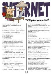 English Worksheet: Internet Test