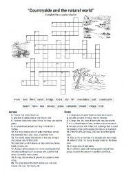 English Worksheet: The countryside and the natural world.