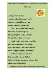 English Worksheet: English  poem