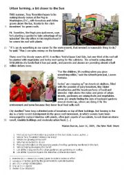 English Worksheet: Rooftop gardening written comprehension