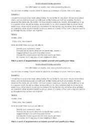 English Worksheet: Advising a ski resort