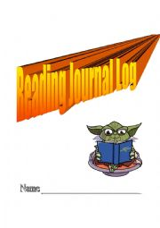English Worksheet: reading journal log