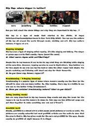 English Worksheet: Hip Hop