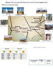 Route 66 - attractions - compare