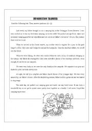 English Worksheet: Information transfer