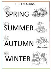 The Four Seasons Coloring Page Esl Worksheet By Mimib21