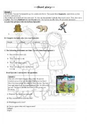 English Worksheet: Short story about friendship