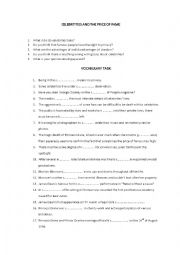 English Worksheet: Celebrities and Fame