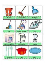 English Worksheet: Pictionary - Household Utensils