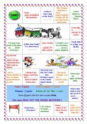 English Worksheet: this is a board game for grammar revision