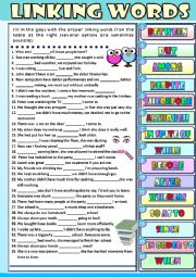 English worksheet: Linking Words - exercises