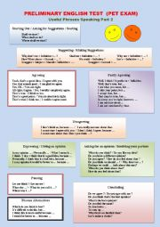 English Worksheet: PRELIMINARY ENGLISH TEST SPEAKING PART 2