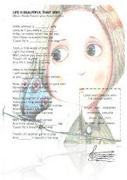 English Worksheet: BEAUTIFUL THAT WAY