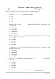 English communication worksheets pdf