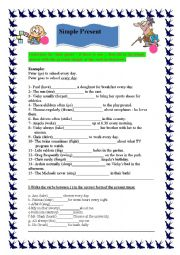 English Worksheet: Grammar (Simple Present Tense)