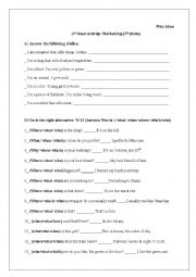 English Worksheet: Market Day (3rd hour activity)