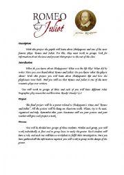 English Worksheet: Shakespeare and