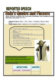 English Worksheet: YODA�S QUOTATIONS AND PHRASES