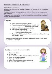 English Worksheet: A murder to solve - Past Continous speaking worksheet