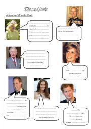 English Worksheet: The royal family